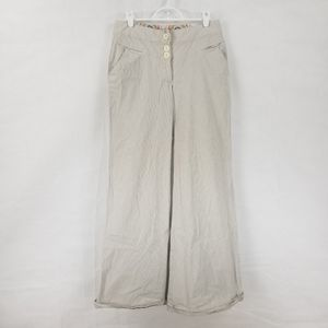 Elevenses Anthropologie 4 Stripped Wide Leg Pants